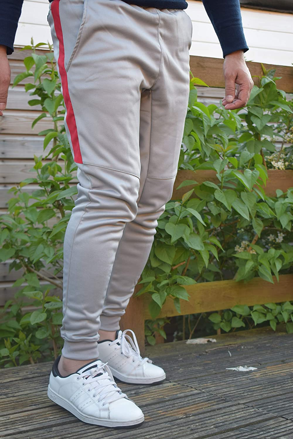 Men Gym Slim Fit Trousers Tracksuit Bottoms Sports Joggers Sweat Track Pant Boys Running Exercise Causal Trouser
