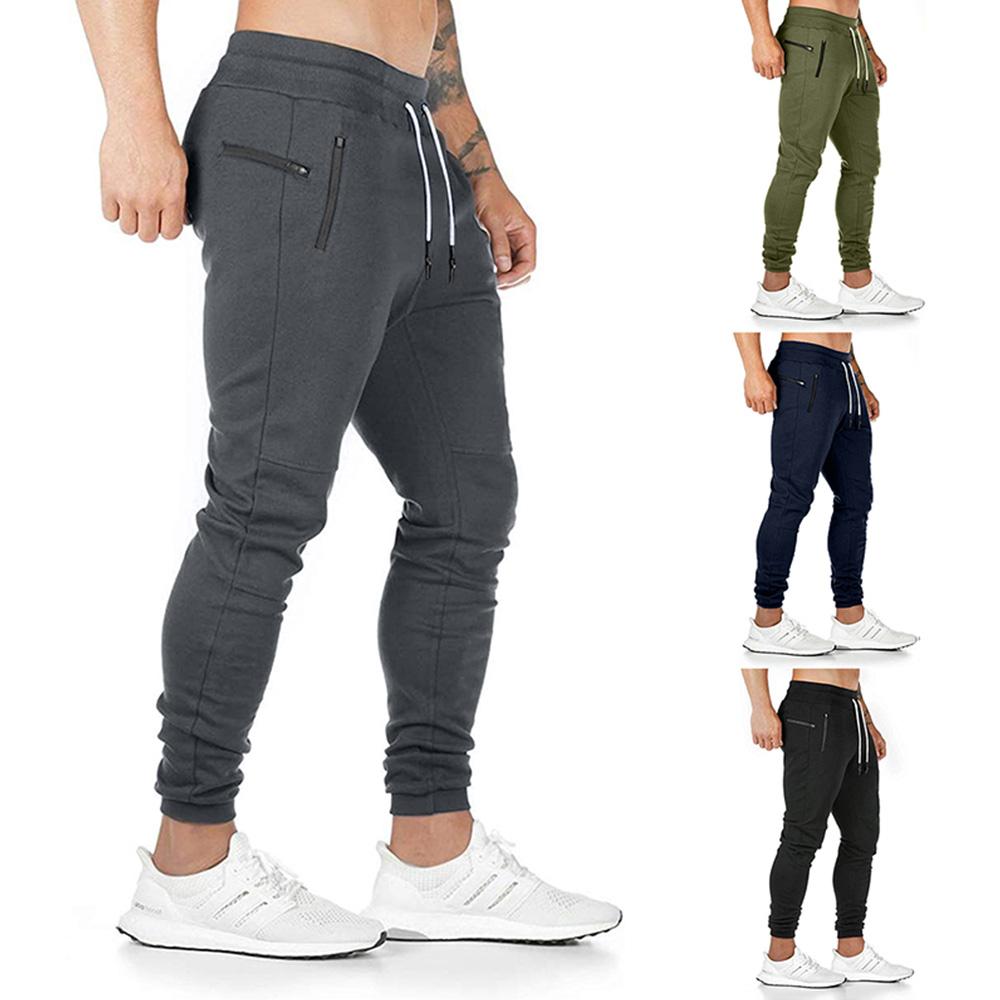 Men Slim Fit Tracksuit Bottoms Skinny Long Joggers Pants Sweat Trousers UK STOCK