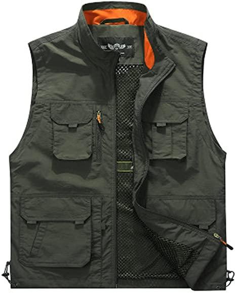 Men Sports Multi-Pocket Utility Vest