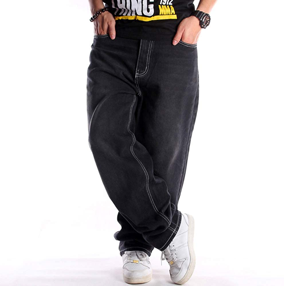 Men/Teen Boys Vintage Hip Hop Baggy Jeans Denim Street Dance Skate Pants