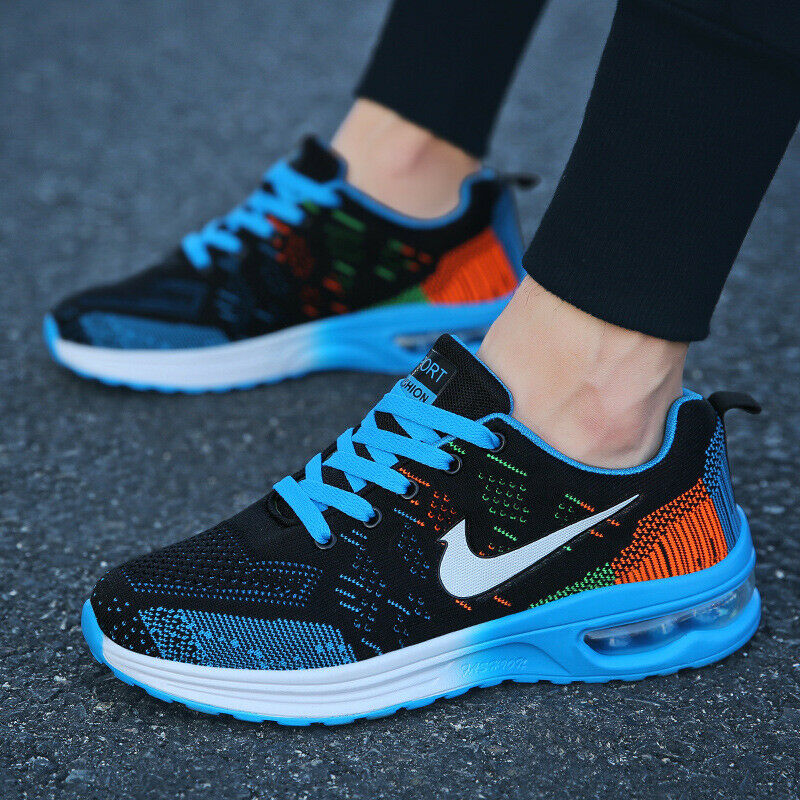 Men Women Walking Gym Sport Trainers Air Cushion Sneakers Casual Running Shoes