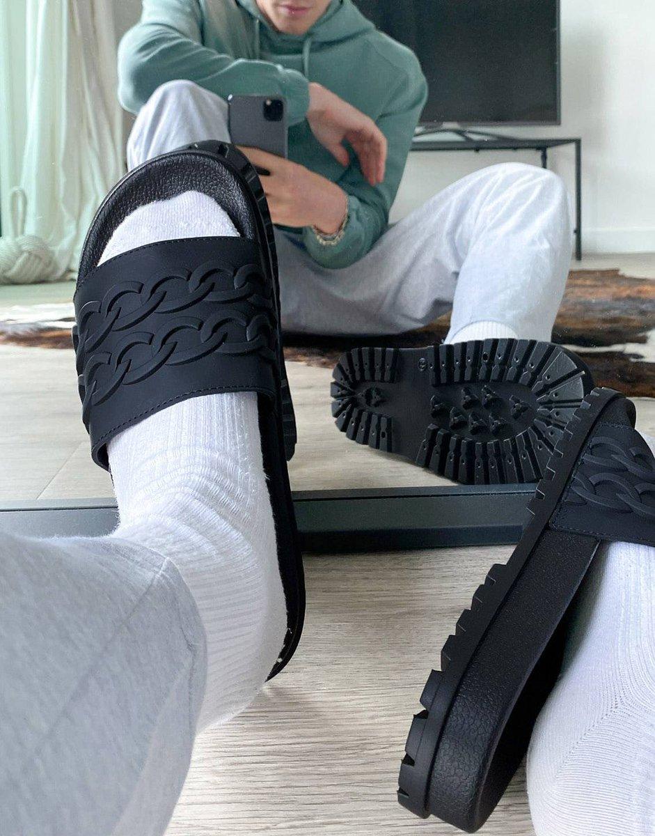 Men's Black Sliders