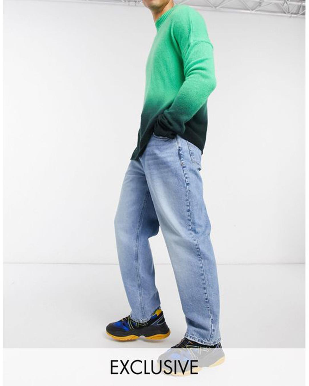 Men's Blue X014 90s baggy Jeans