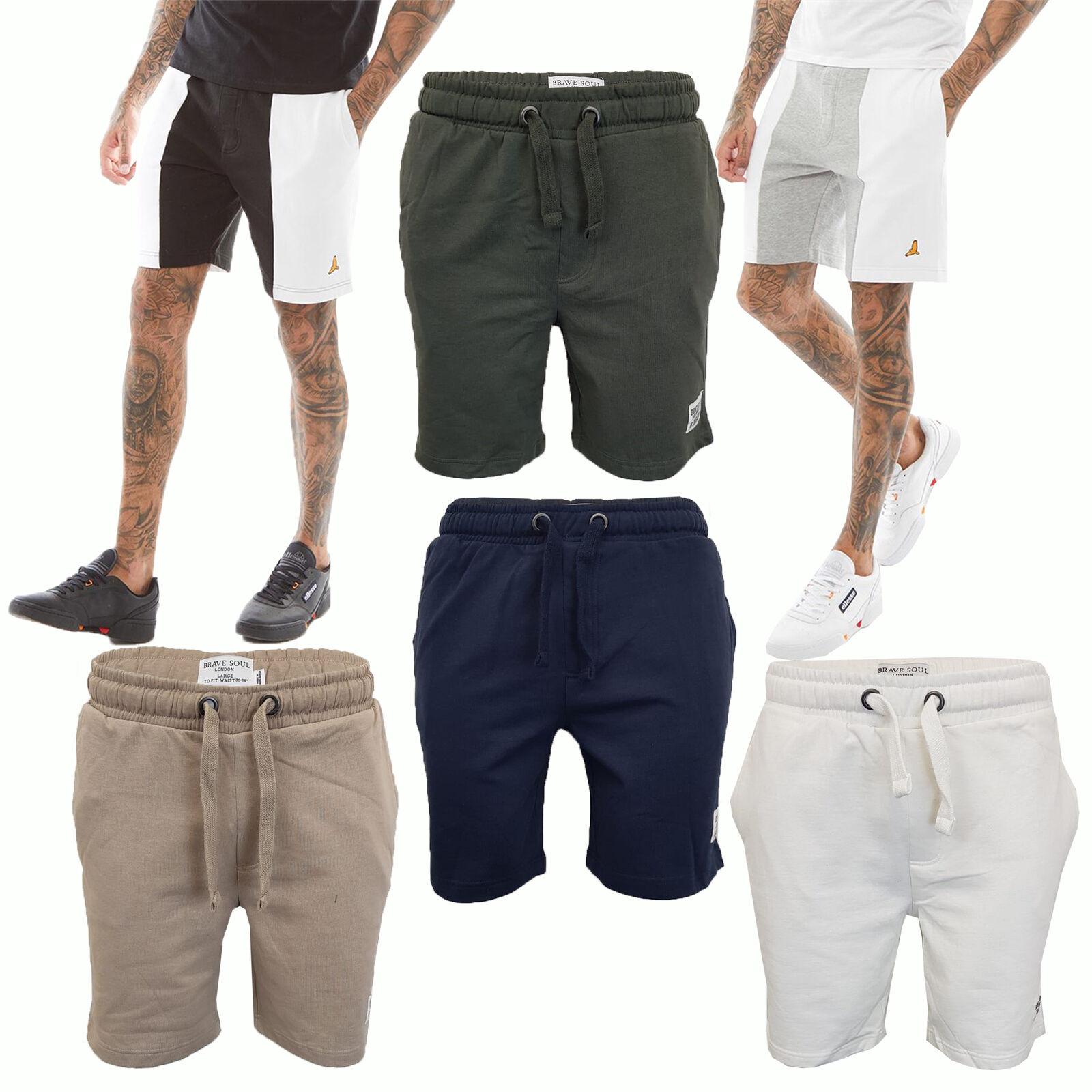 Men's Brave Soul Gym Jogger Shorts LOCUST Lounge Bottoms Cotton Pants Fashion New