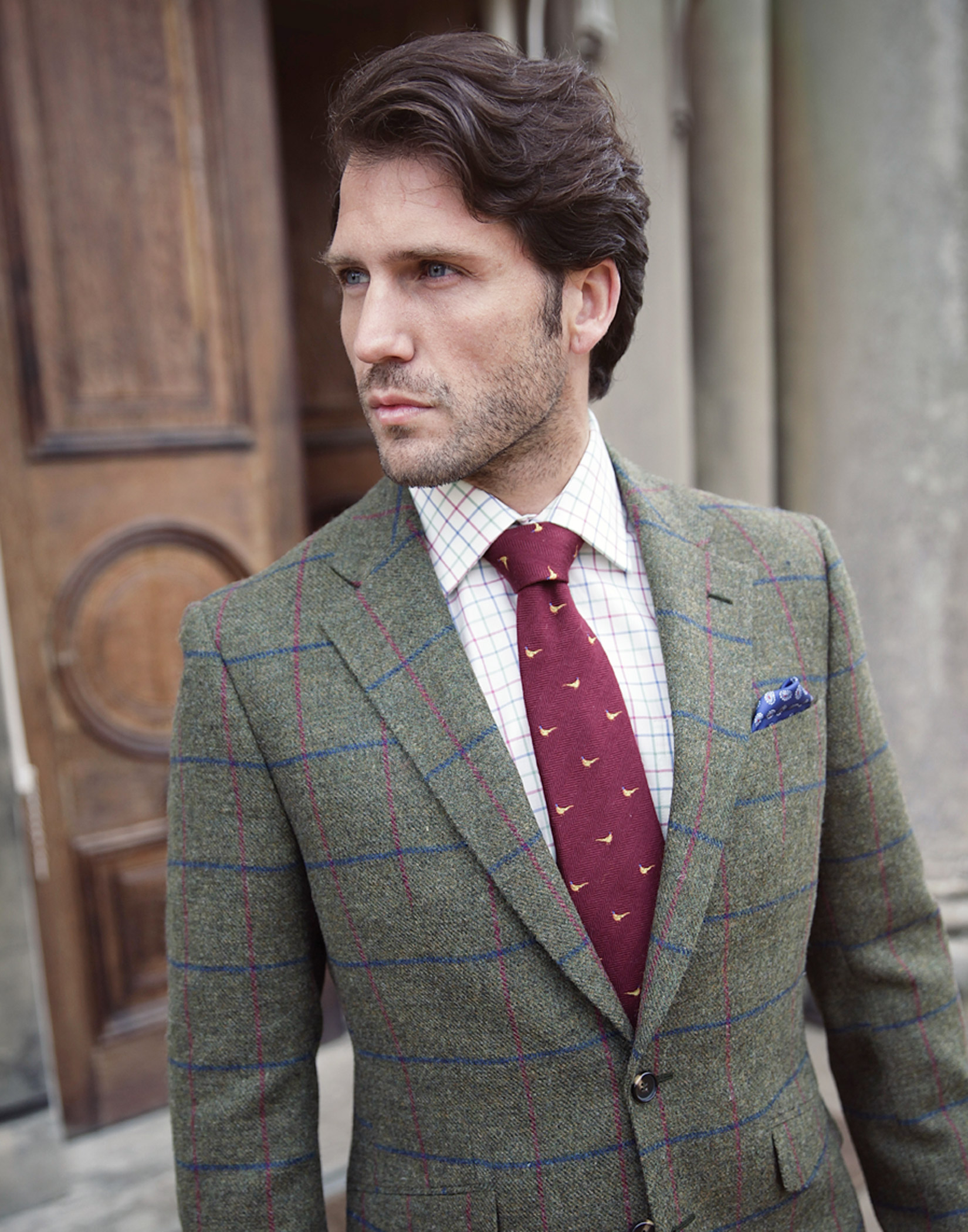 Mens Checked Shirt with jacket