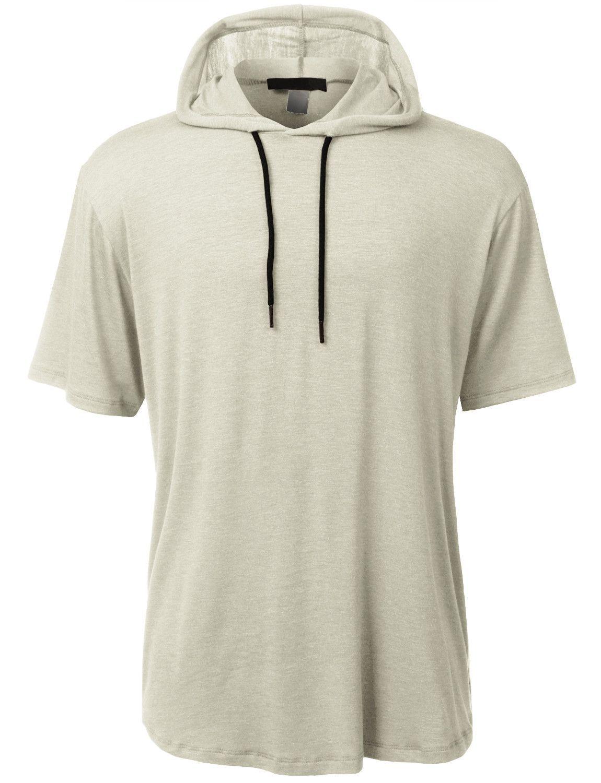 Mens Lightweight Hipster Short Sleeve Hoodie
