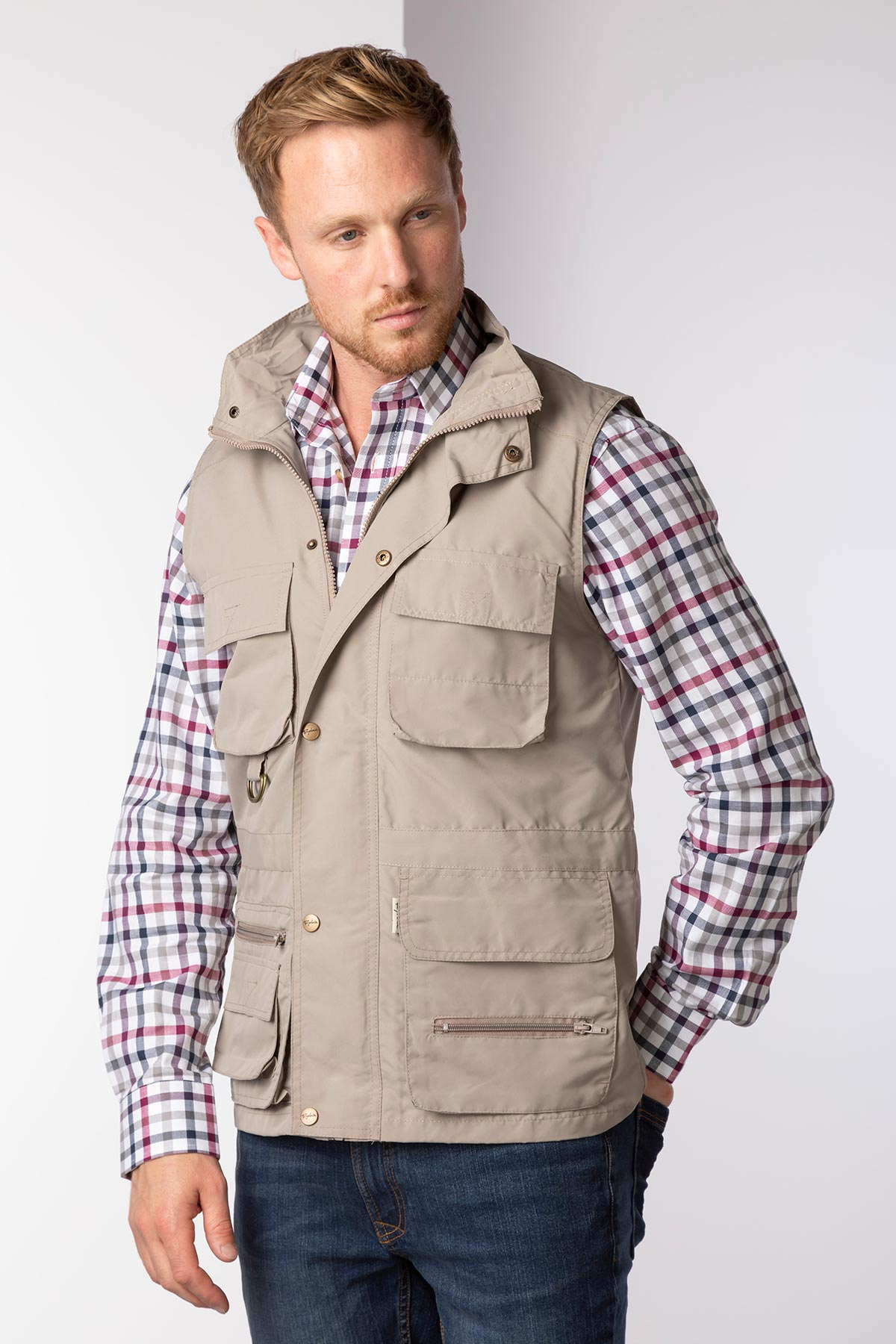 Men's Multi-Pocket Utility Vest