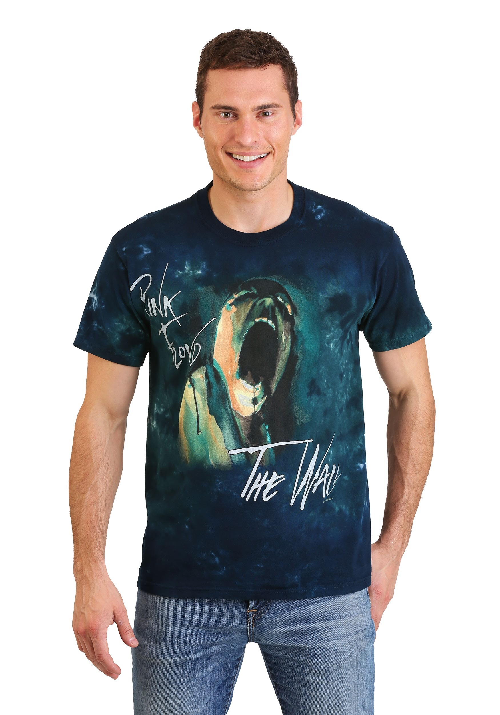 Men's Pink Floyd The Wall Screaming Face Tie-Dye T-Shirt