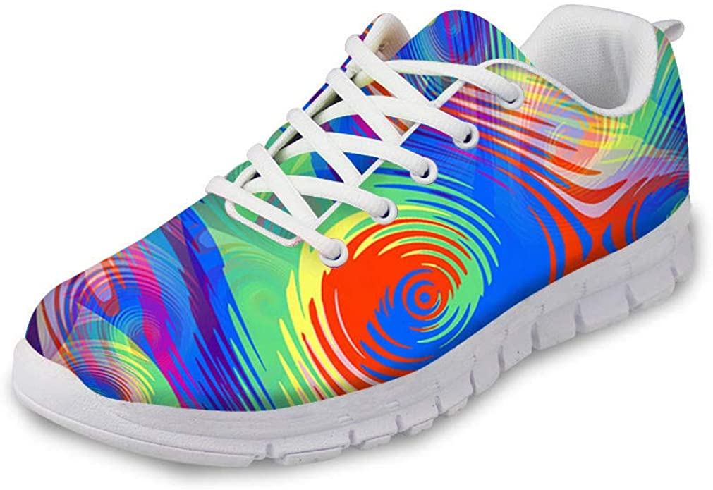 Men's Running Shoes, Trainers, Colourful Graffiti Rainbow Scribble Print Trainers, Stylish Street Running Shoes, Hiking Shoes, Trainers, Sports Shoes