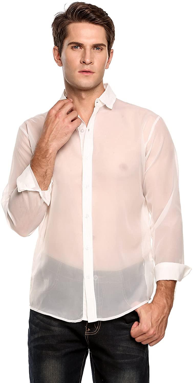 Mens Mesh White shirt