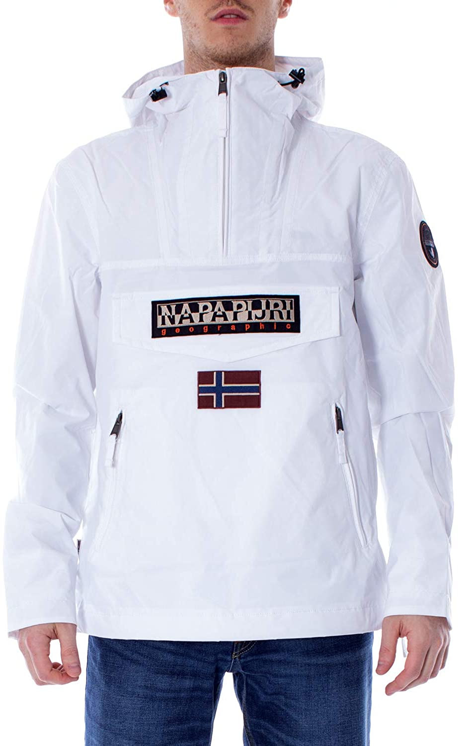 Napapijri Men's Rainforest S Pkt Bright White Jacket