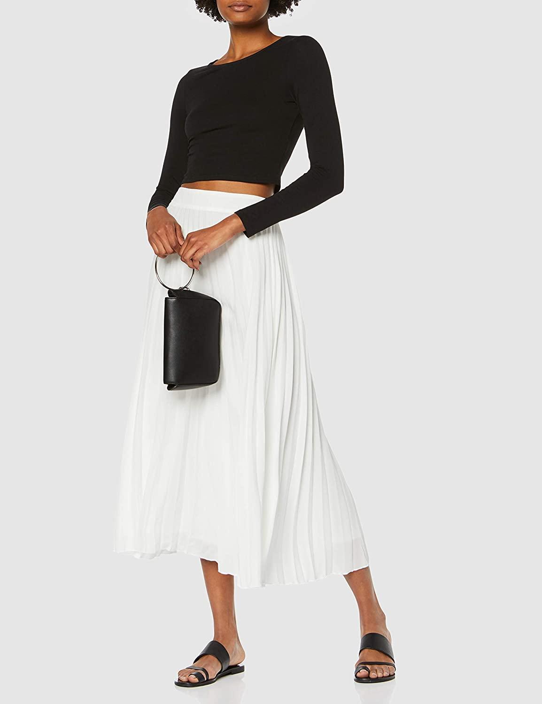 New Look Women's White Pleated Skirt