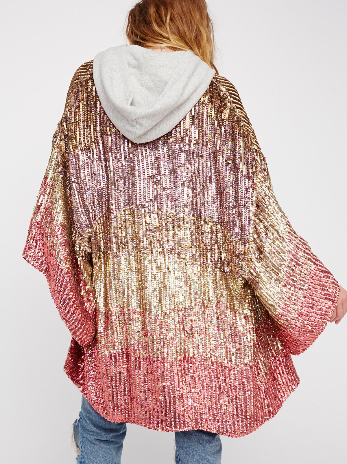 Ombre Sequin Kimono at Free People Clothing Boutique