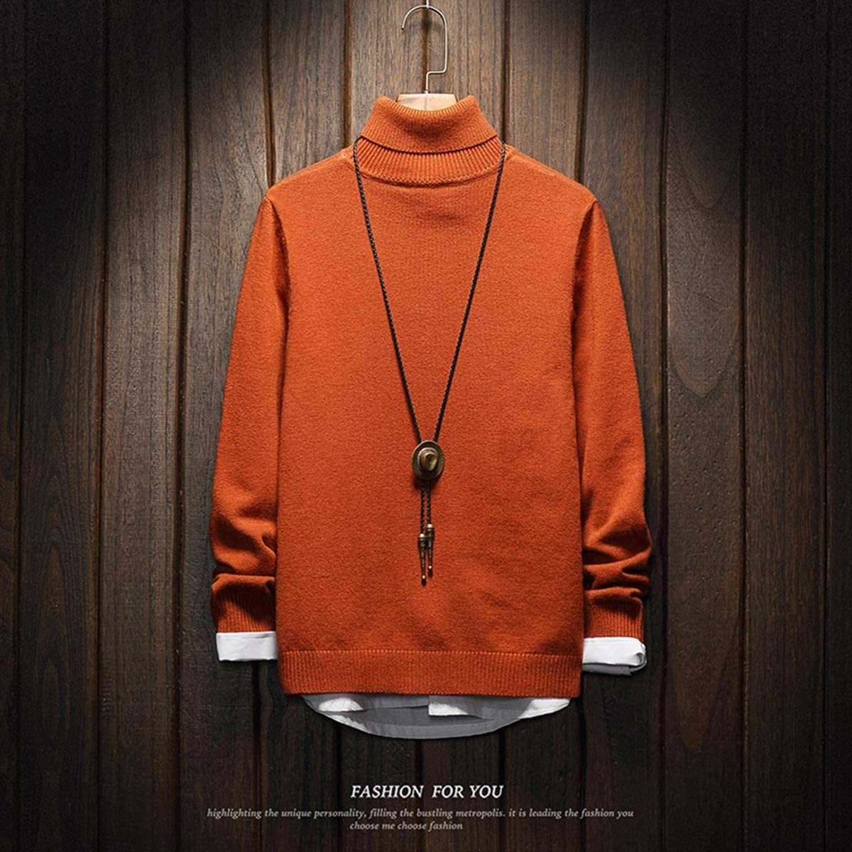 Orange Turtleneck Sweatshirts