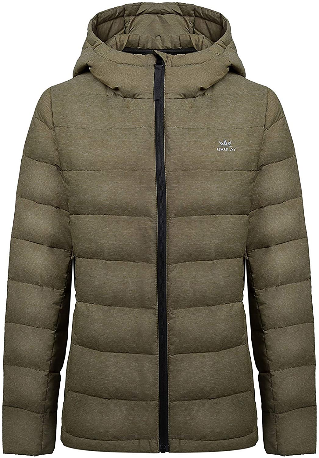 Orolay Women's Hooded Down Coat Short Puffer Jacket
