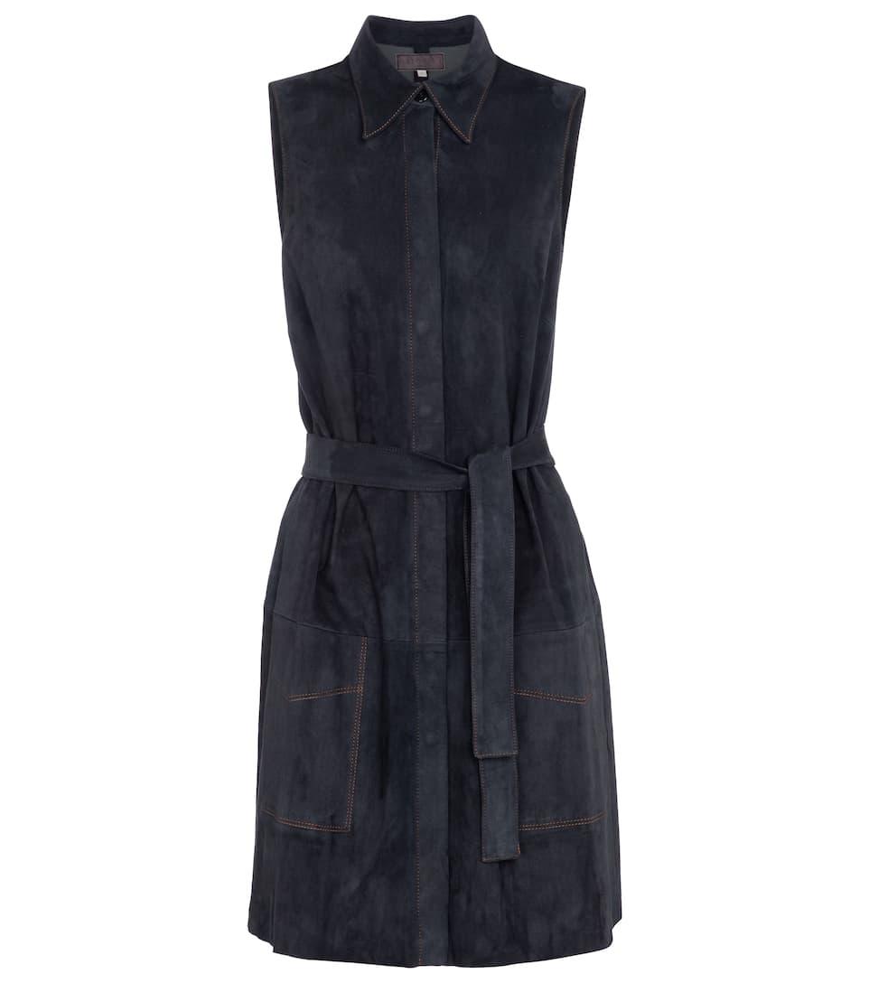 Winslet suede shirt dress