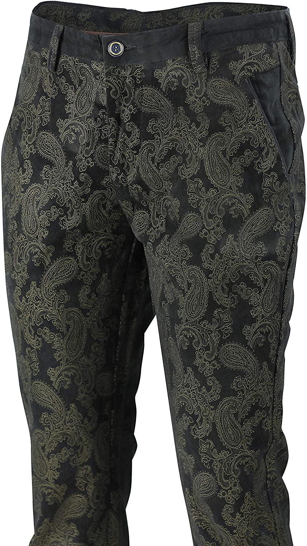 Paisley Printed Soft Velvet Trousers