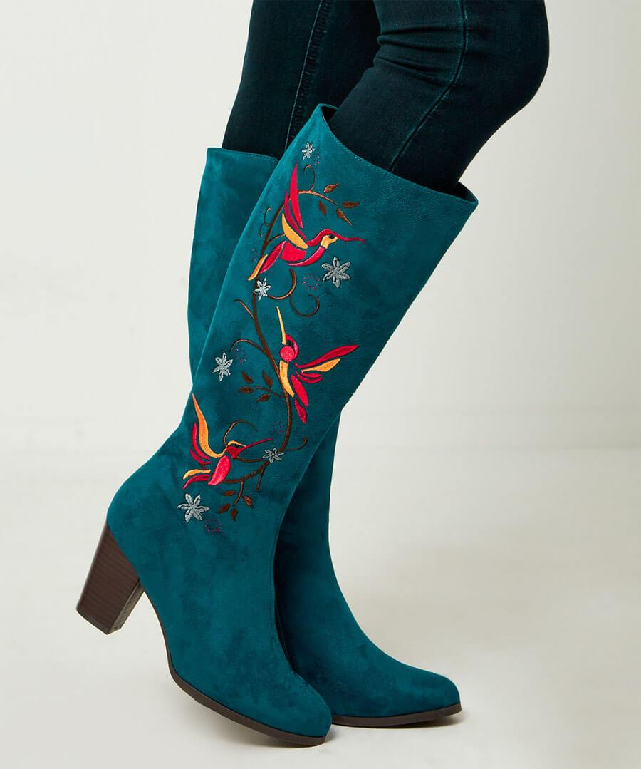 Paradise Birds Embroidered Boots ~ Joe Browns