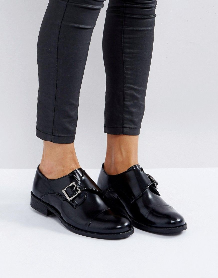 Park Lane Monk Leather Shoe with Buckles