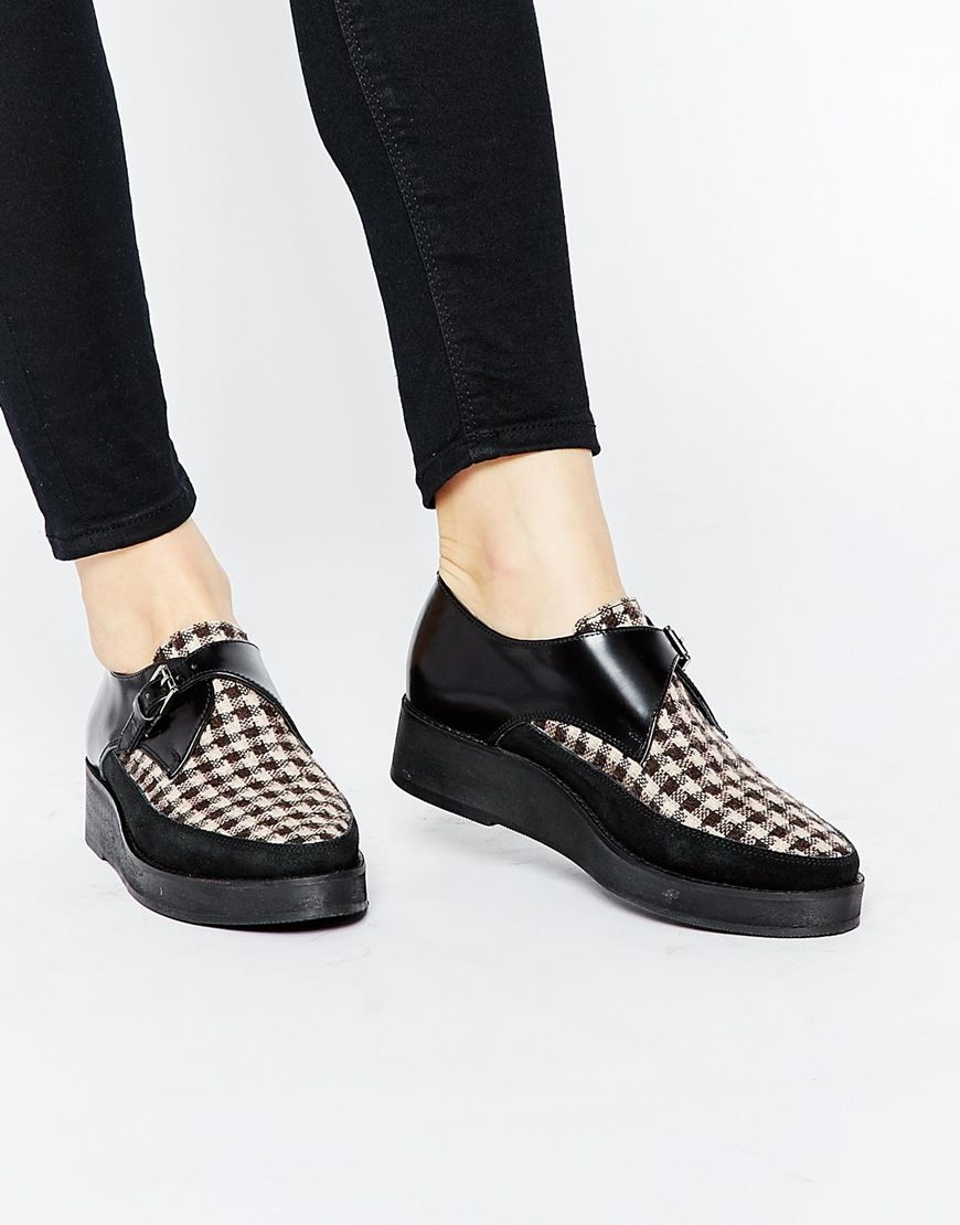 Park Lane Monk Strap Leather Creepers