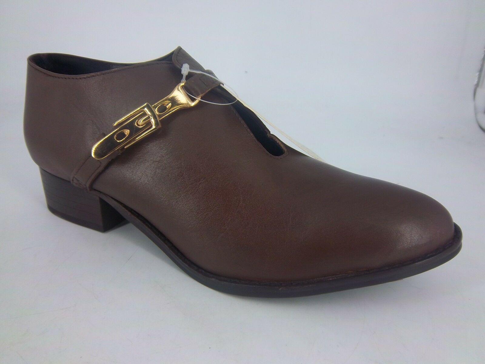 Park Lane Strap Leather Shoe Boots Brown