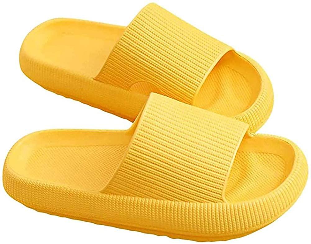 Pillow Slides Slippers Non-Slip Thick Sole Quick Dry Platform Pillow Slides Shoes
