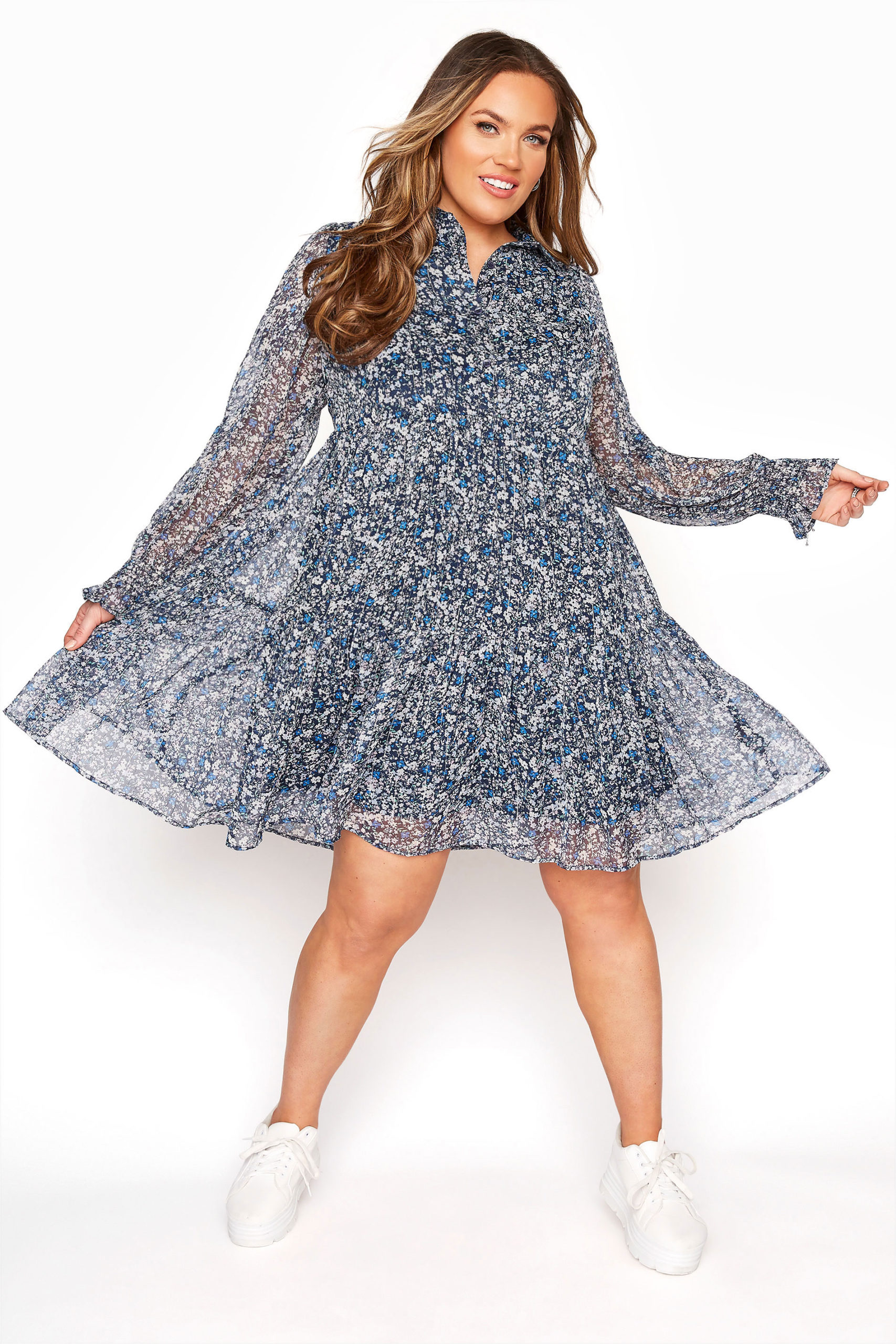 Plus Size Smocked Dress