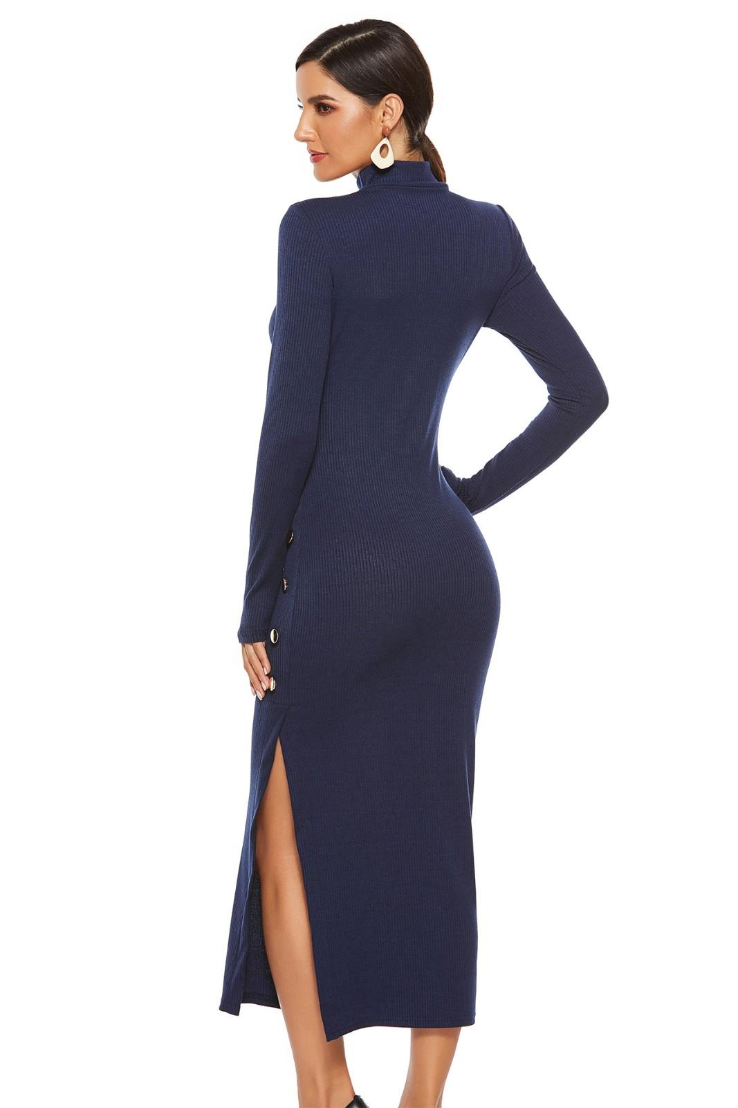 Plus Size Women Fashion Canonicals Maxi Long Sleeve Sexy Tank Slim Fit Dress