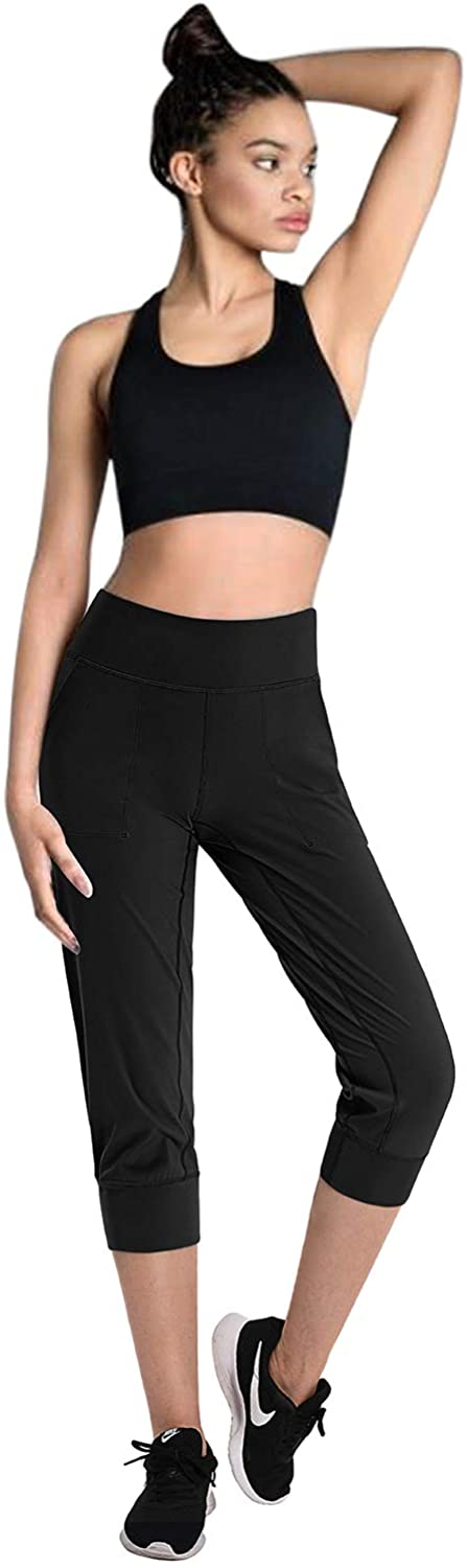 Promover Womens Yoga Joggers with Pockets Workout Running Joggers Pants Active Yoga Sweatpants Comfy Tapered Lounge Pants with Pockets