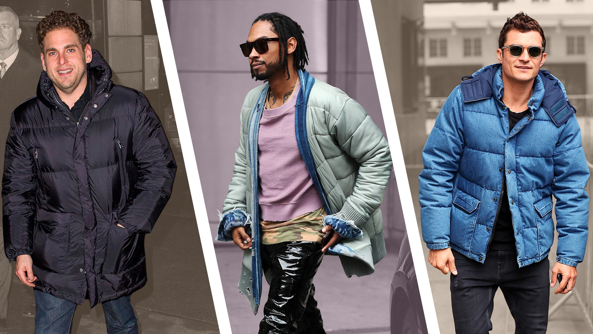 stylish puffer jacket men