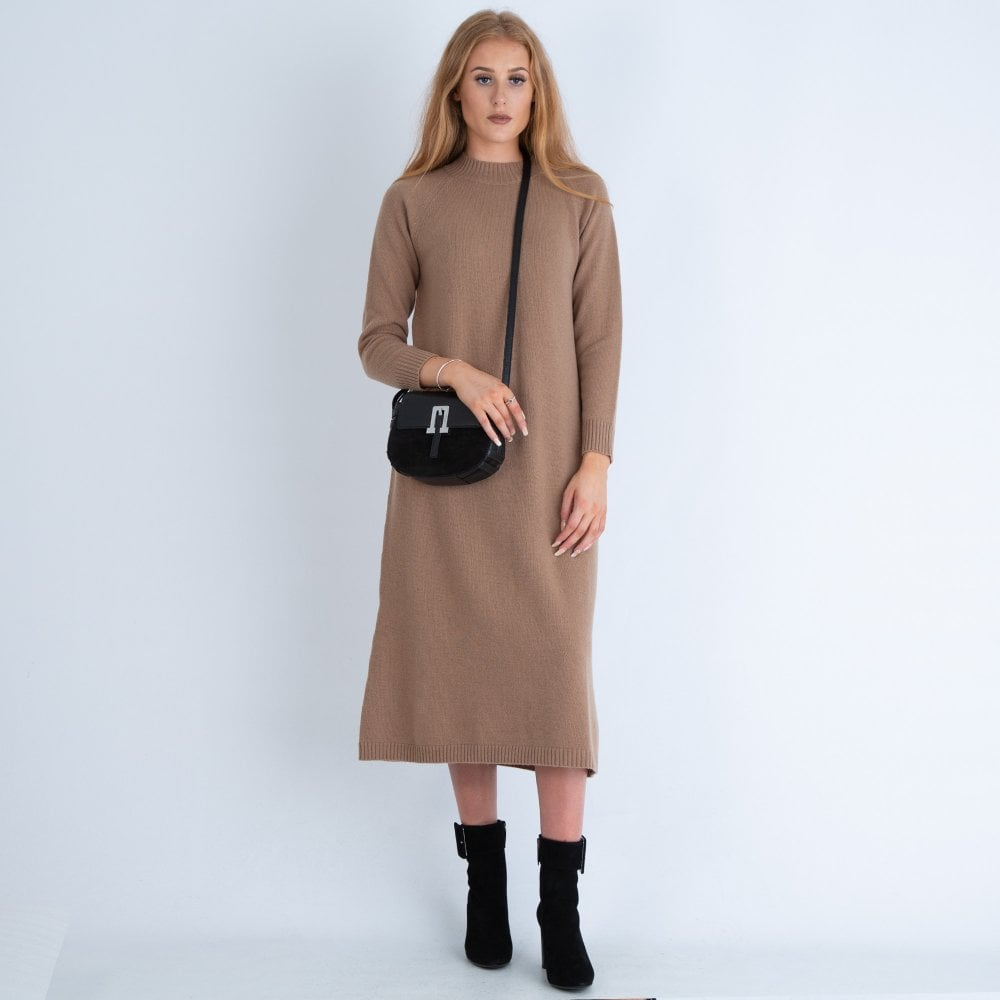 Rapello Long Knitted Dress Camel