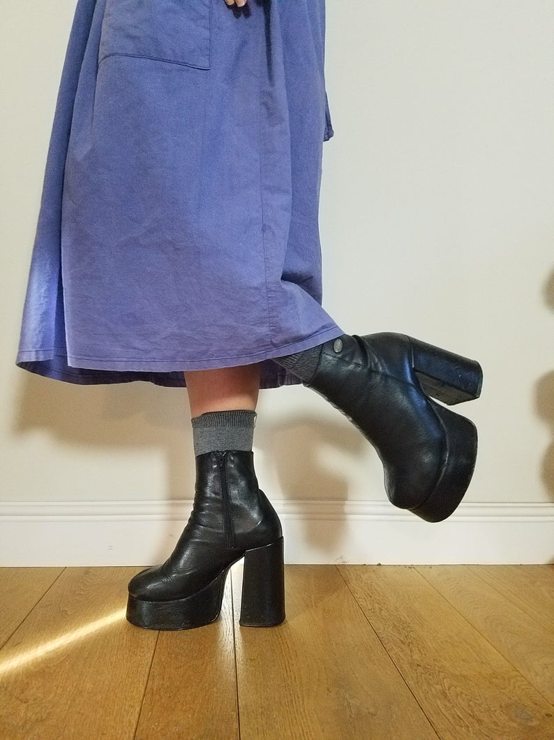 Rare Buffalo Platform Boots. Uk 4 EU 37