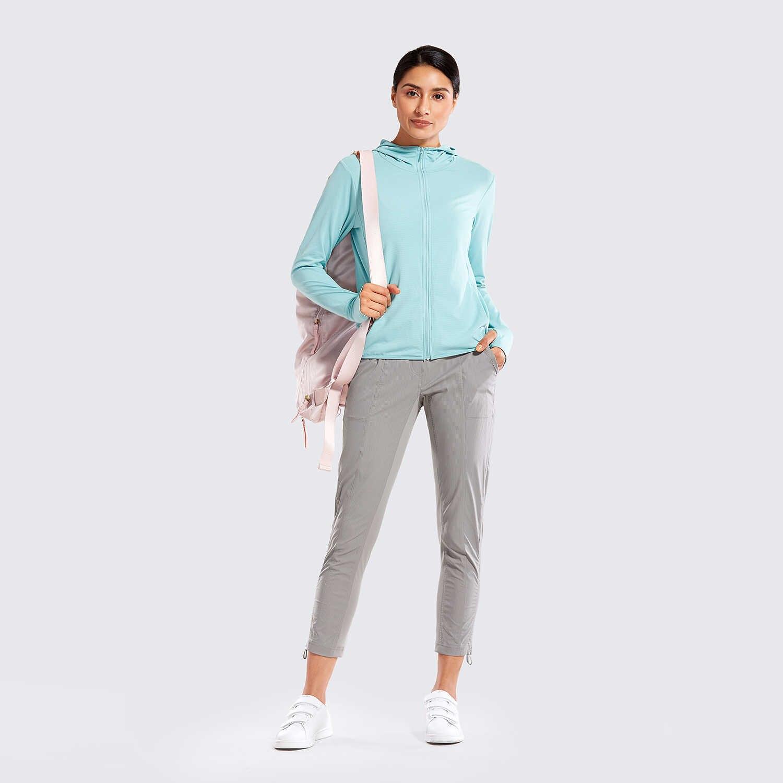 SYROKAN Women's Go to Studio Joggers Striped Pants Tapered Leg Sweatpants