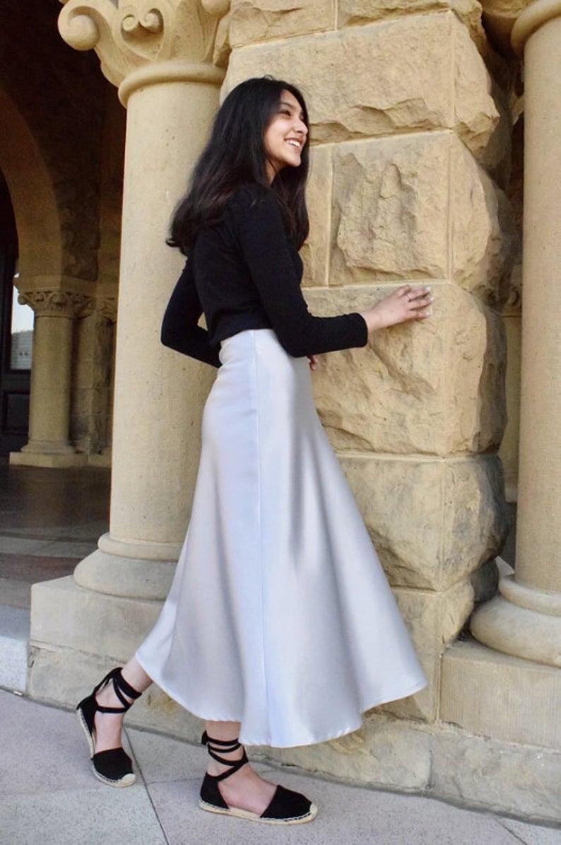 Satin Slip Skirt | Satin Skirt | Silk Midi Skirt | Silk Slip Skirt | Bias Slip Skirt | Long Slip Skirt | Satin Silk Skirt | Maxi Skirt