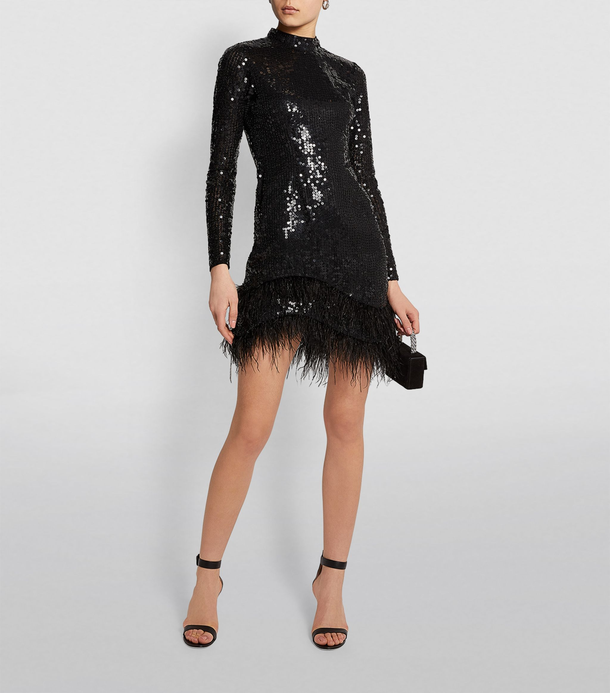 Sequin and Feather Ellis Mini Dress
