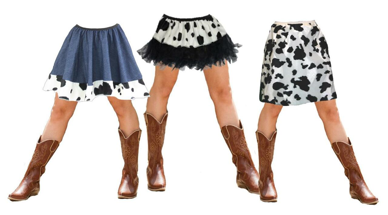 Show People Your Confidence With a Cow Print Skirt