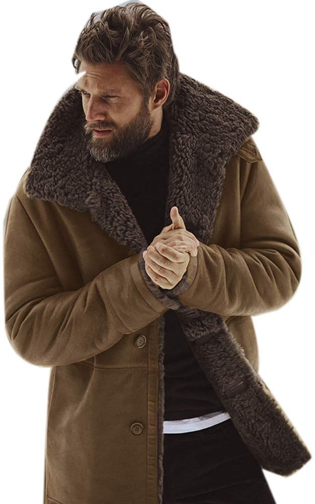Fur Long Shearling Brown Jacket