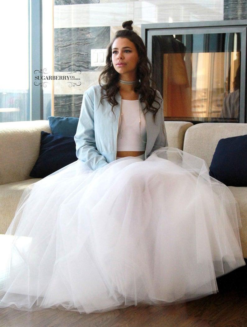 Silk White floor length skirt,Tulle skirt,tutu skirt,Bridesmaid,evening wear,Aline,Maxi skirt,Wedding, Bridal skirt,Long tulle skirt,elegant