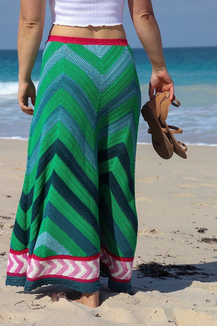 Solid colours beach skirt