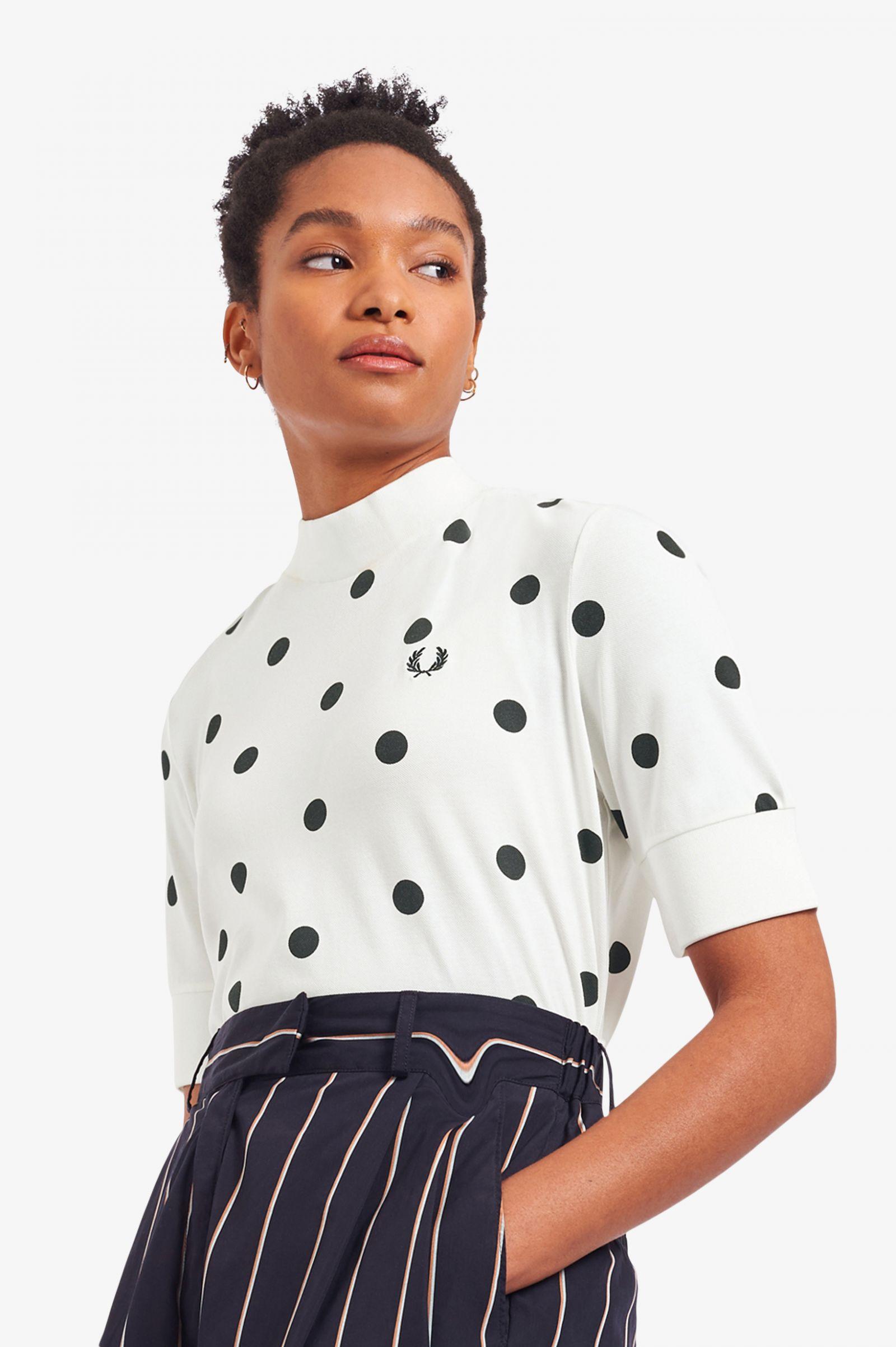 Spot Print Piqué T-Shirt