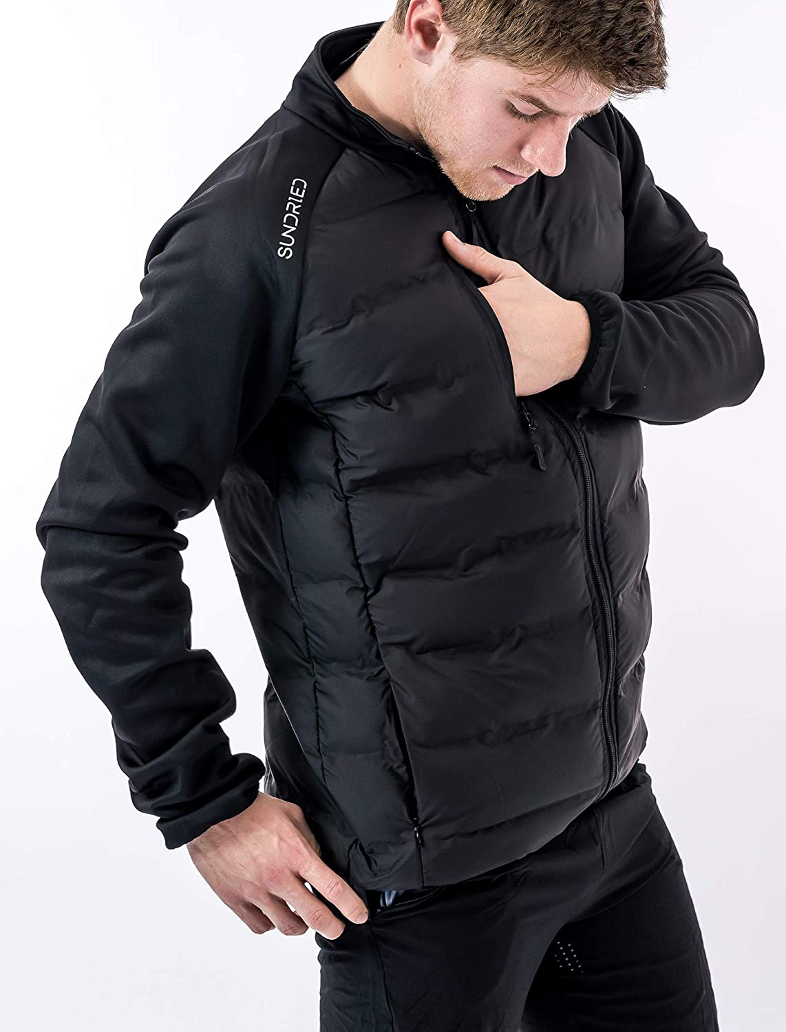 Sundried Mens Hybrid Sport Casual Puffer Coat Quilted All Seasons Jacket