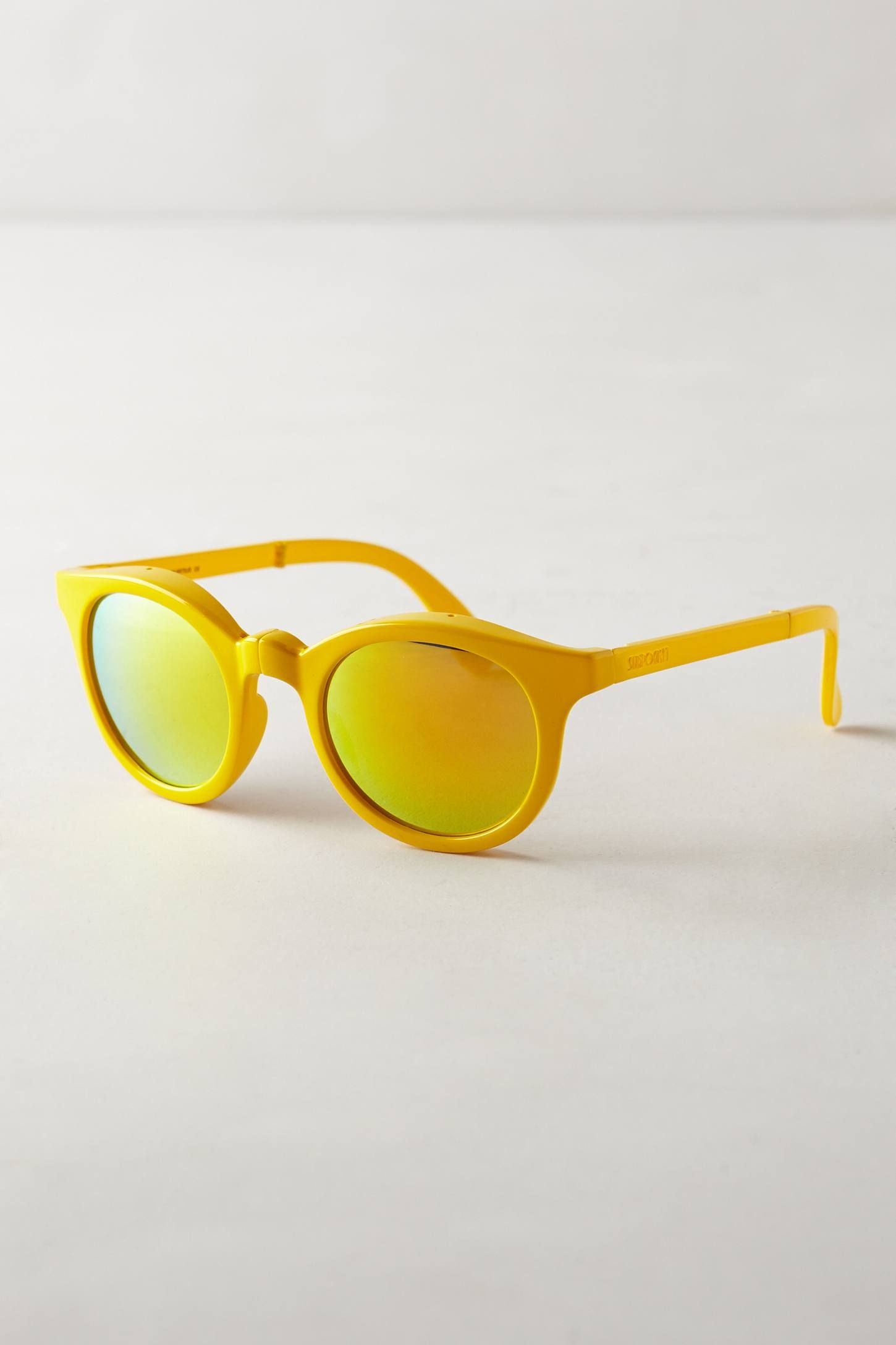 Sunpocket Foldable Electric Lemon Sunglasses