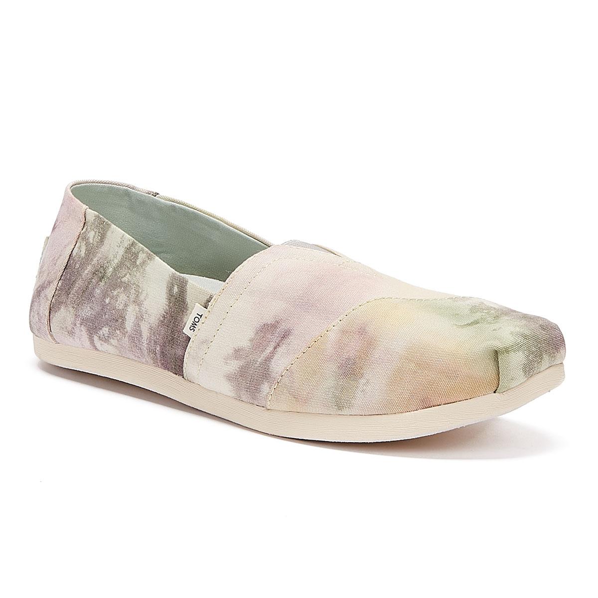 TOMS Alpargata Tie Dye Womens Pink Espadrilles Casual Summer Shoes Flatform
