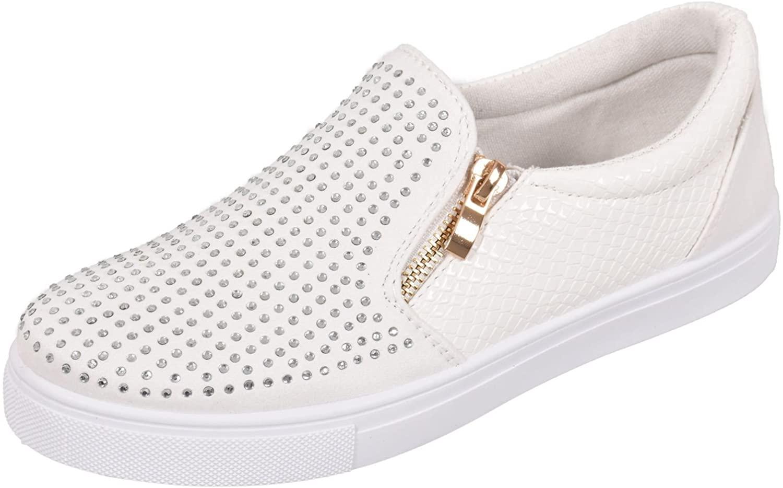 TRUFFLE Ladies Platform Pumps Plimsolls Diamante Sneaker