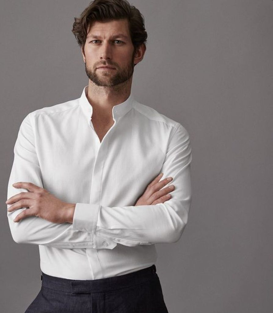 Tips on Buying the White Mandarin Collar Shirt For Mens Wear1