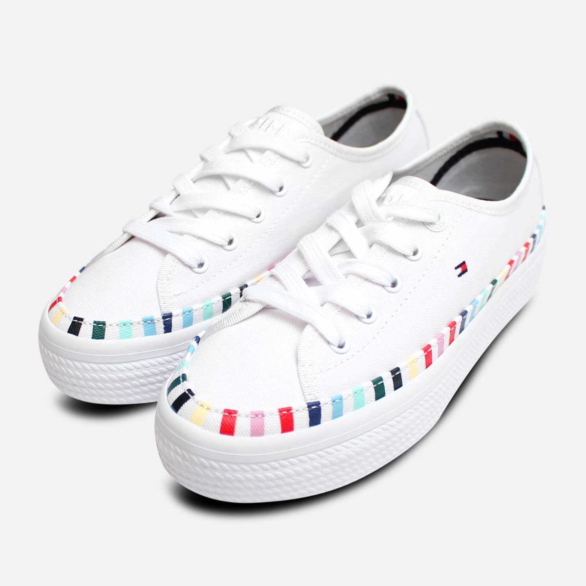 Tommy Hilfiger Women's Slip on Rainbow Flatform Low-Top Sneaker