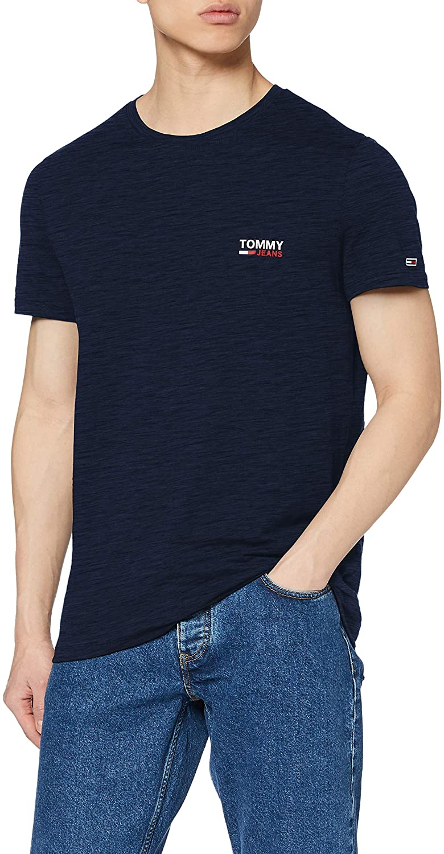Tommy Jeans Men's TJM Texture Logo Tee T-Shirt