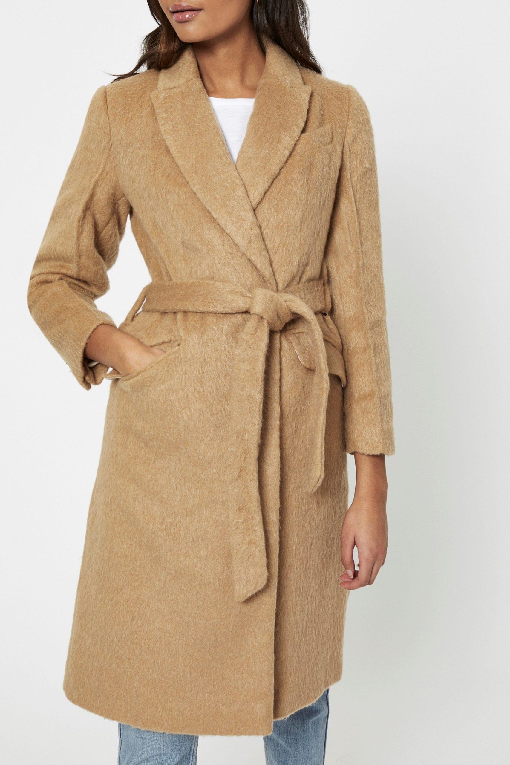 Topshop Petite Manhattan Belted Coat