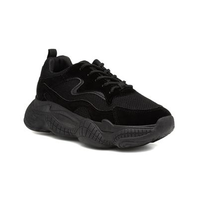 Truffle Bubble Womens Black Chunky Trainer