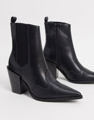 Truffle Collection western boots in black